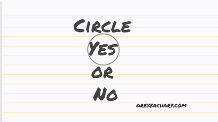 Circle Yes or No-2